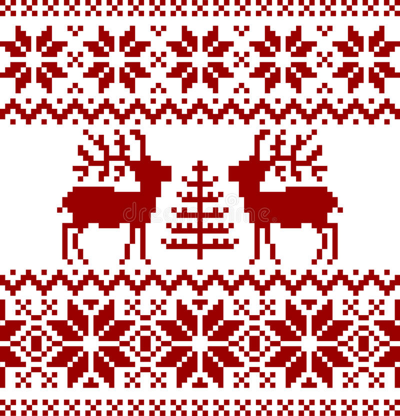 Free Christmas Norwegian Pattern Royalty Free Stock Image - 17622866