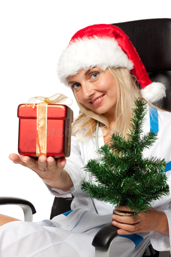 Download Christmas nurse stock photo. Image of attractive, specialist - 11127754