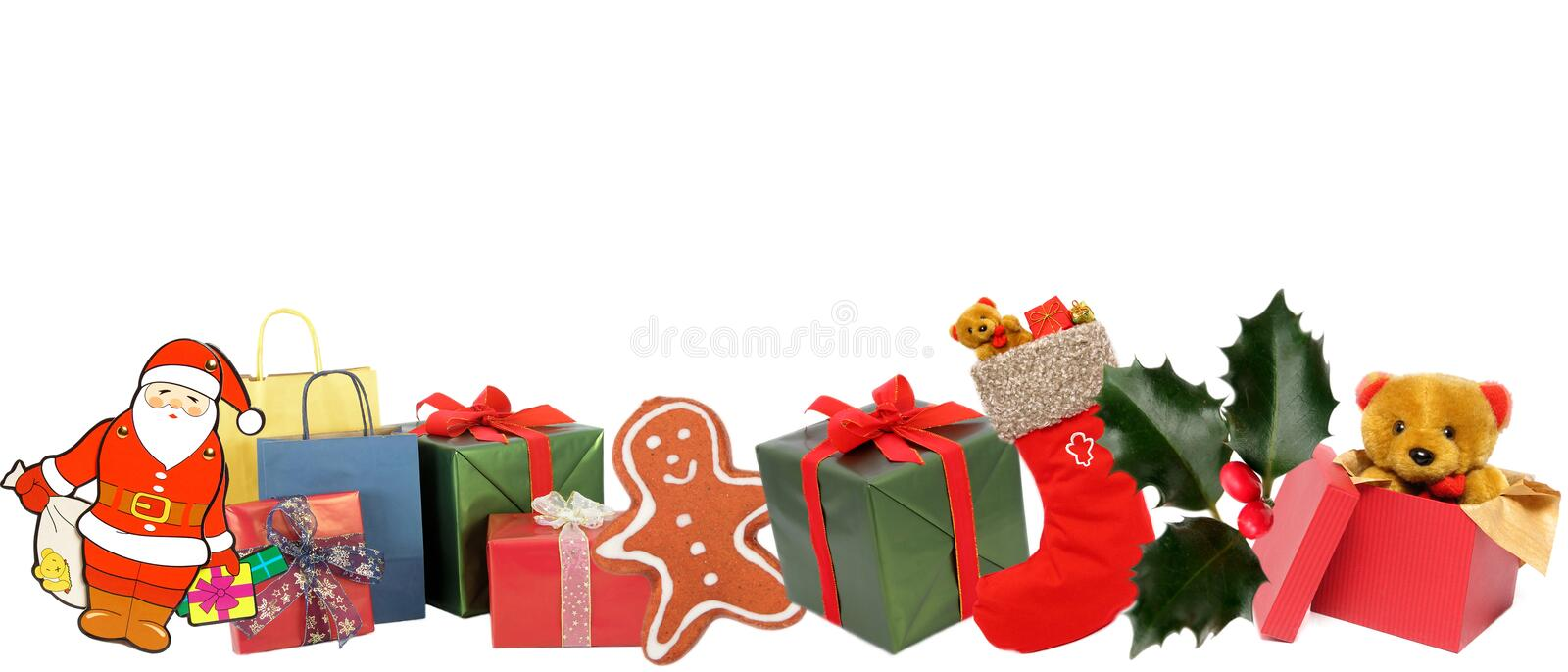 Christmas objects royalty free stock photos