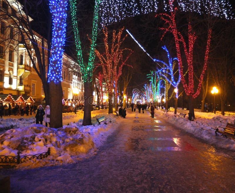 Christmas Odessa stock photo