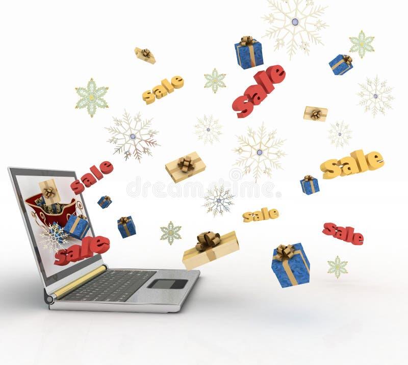 Download Christmas online shopping stock illustration. Image of celebration - 26847268