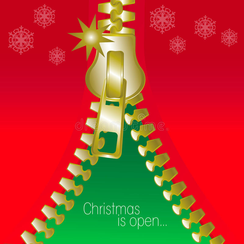 Download Christmas Open Zip Square Greetings Card Stock Vector - Illustration of party, holiday: 27708979