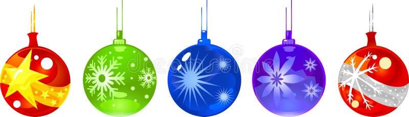 Christmas Ornament balls stock illustration