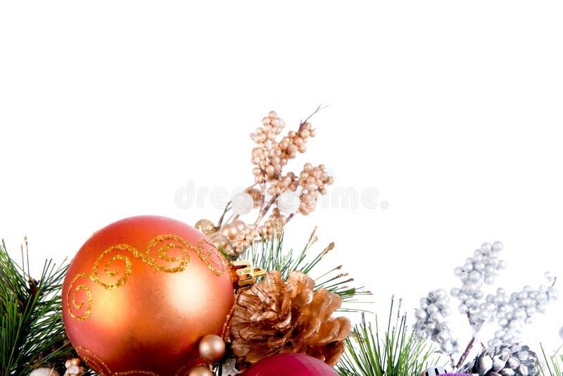 Christmas Ornament Corner Decoration Series royalty free stock photo