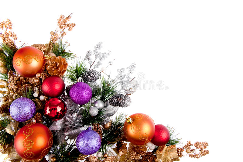 Christmas Ornament Corner Decoration Series stock image