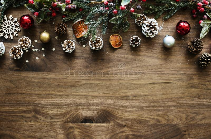 Christmas ornament design space wallpaper stock photography
