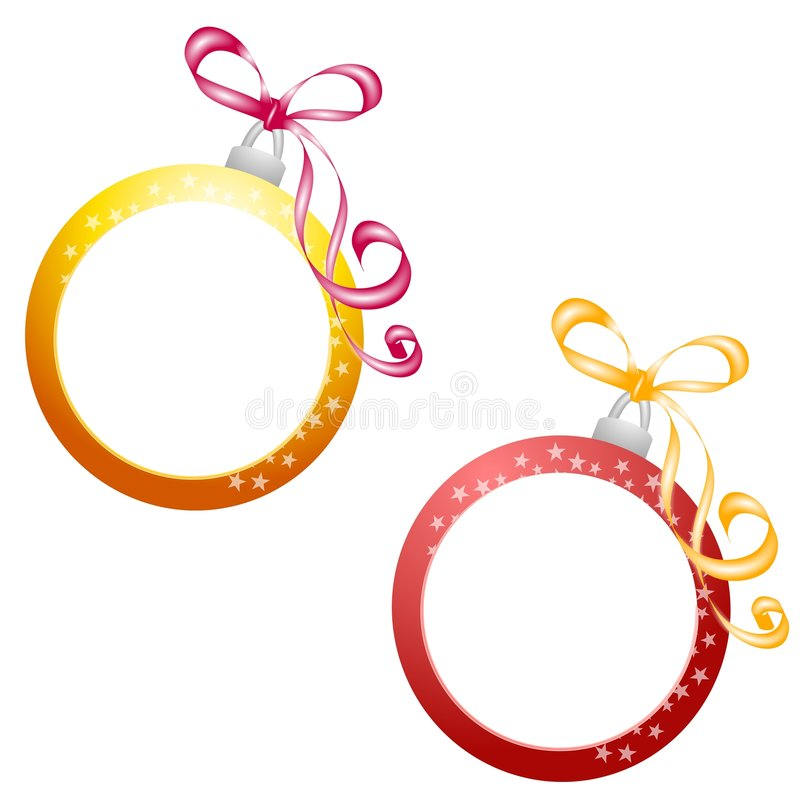 Christmas Ornament Frame stock illustration. Illustration of ...