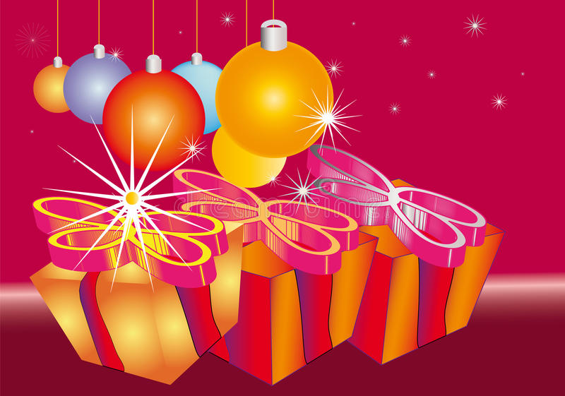 Download Christmas Ornament With Gifts And Baubles Royalty Free Stock Images - Image: 11225039