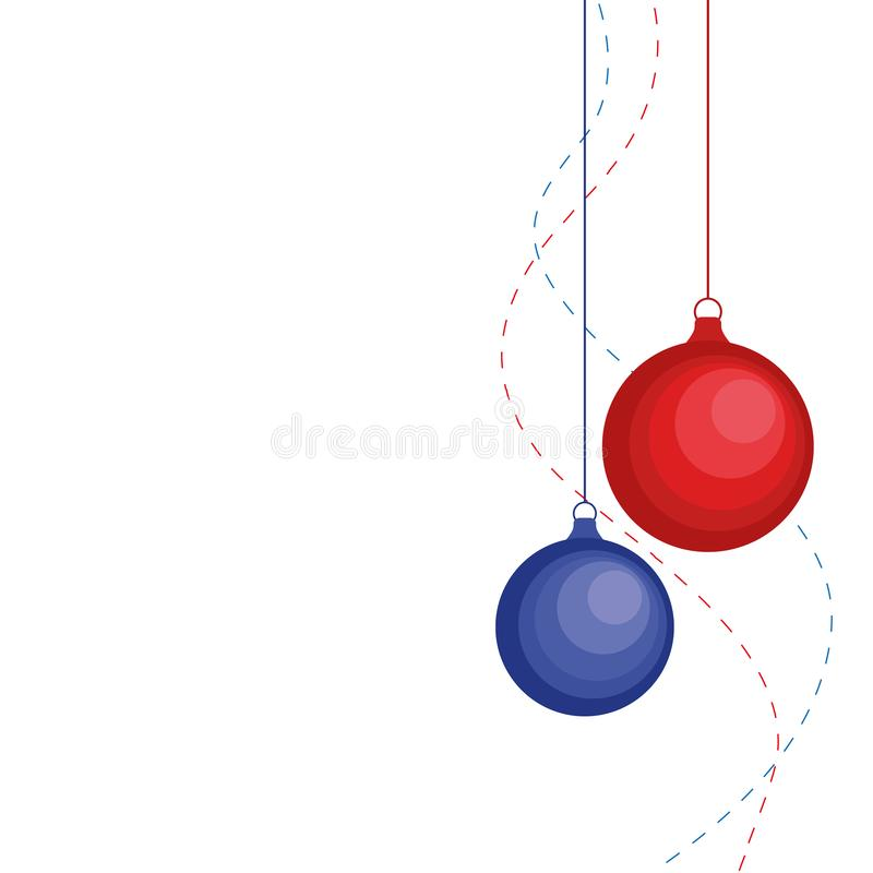 Free Christmas Ornament Hanging Red Isolated Background Vector Illustration Royalty Free Stock Image - 162134846