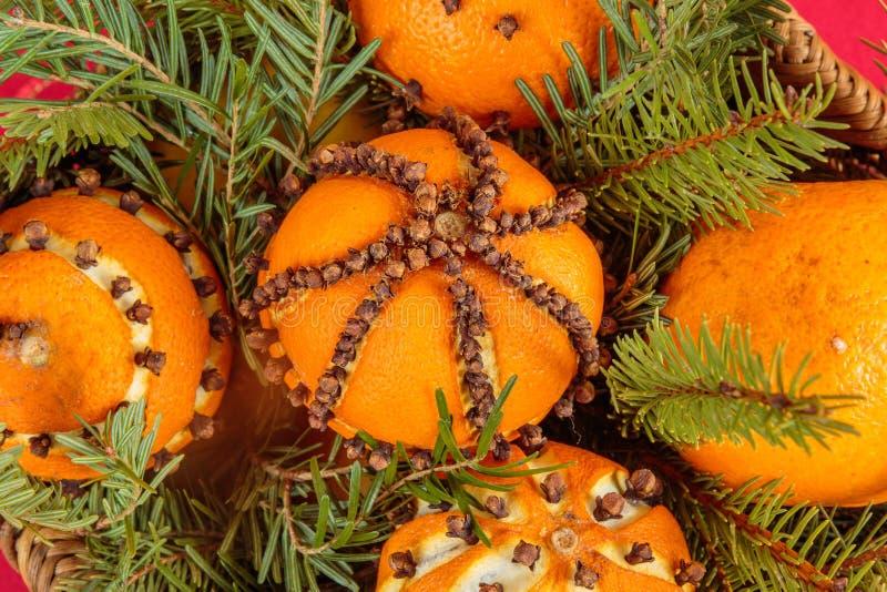 Christmas Ornament With Orange Stock Image - Image of ...