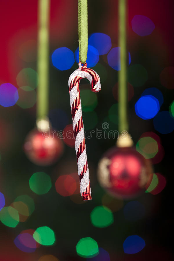 Download Christmas Ornament Over Defocused Christmas Lights Royalty Free Stock Photography - Image: 21933937