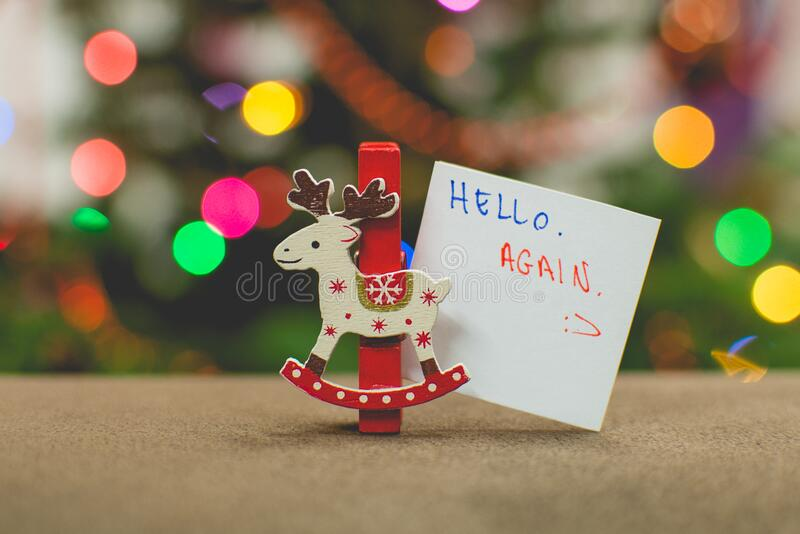 Christmas ornament with sign stock photos
