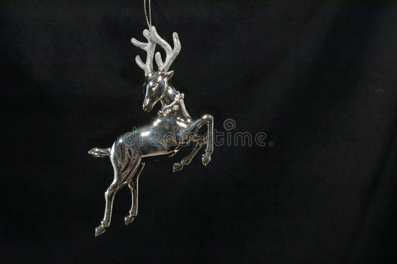 Christmas ornament - Silver Reindeer stock photo