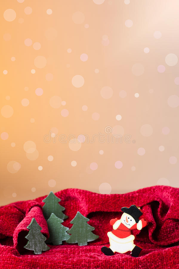 Download Christmas Ornament: Snowman Toy And Little Trees Stock Image - Image: 27628601