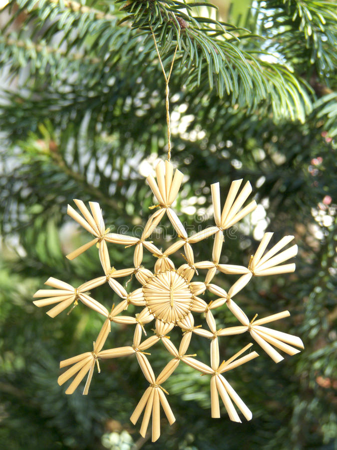 Download Christmas Ornament Straw Star Stock Photo - Image: 12279754