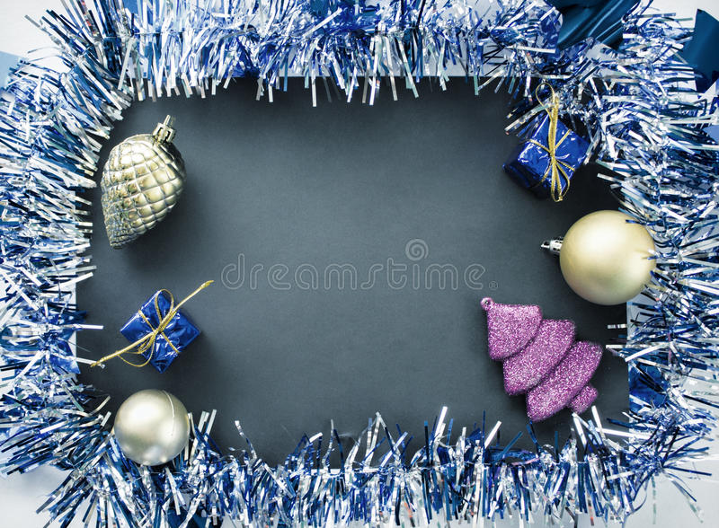 Christmas ornament in vintage style. Christmas flat lay toned photo stock photo