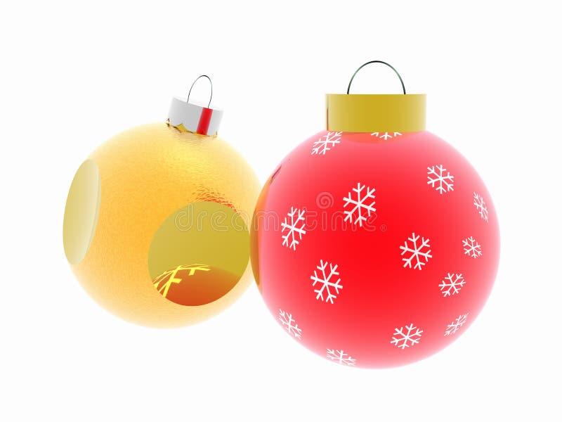 Christmas ornaments. royalty free illustration