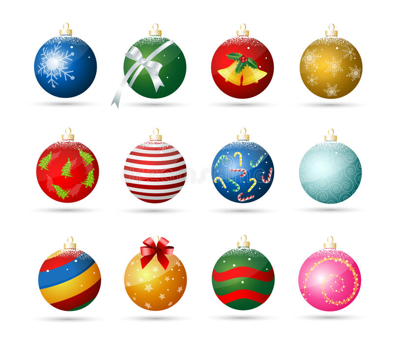 Christmas ornaments royalty free illustration