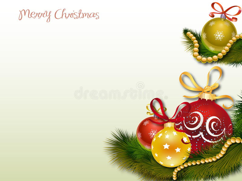 Christmas Ornaments. Clip art illustration featuring a handful of Christmas ornaments sitting amongst pine needles