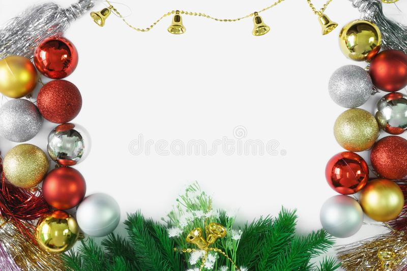 Merry Christmas ornaments decoration background royalty free stock photos