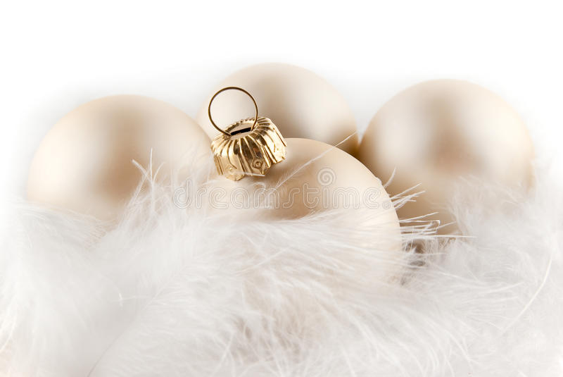 Download Christmas Ornaments In Billowy Feathers Stock Photo - Image: 10211556