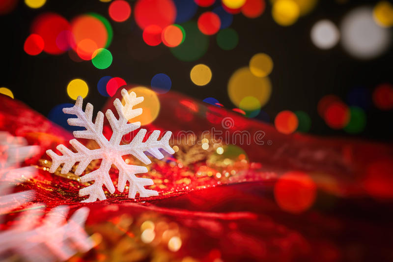 Christmas ornaments on a blur background. Christmas ornaments on a dark blur background stock photography