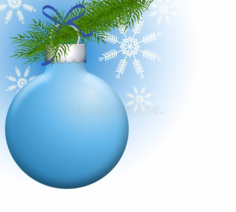 Christmas Ornaments on Branch royalty free illustration
