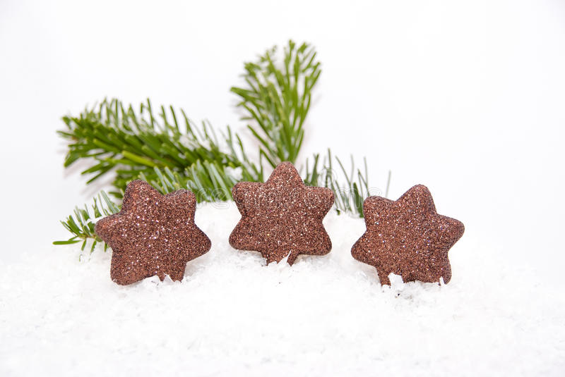 Download Christmas Ornaments On Fake Snow Stock Photo - Image: 14187432