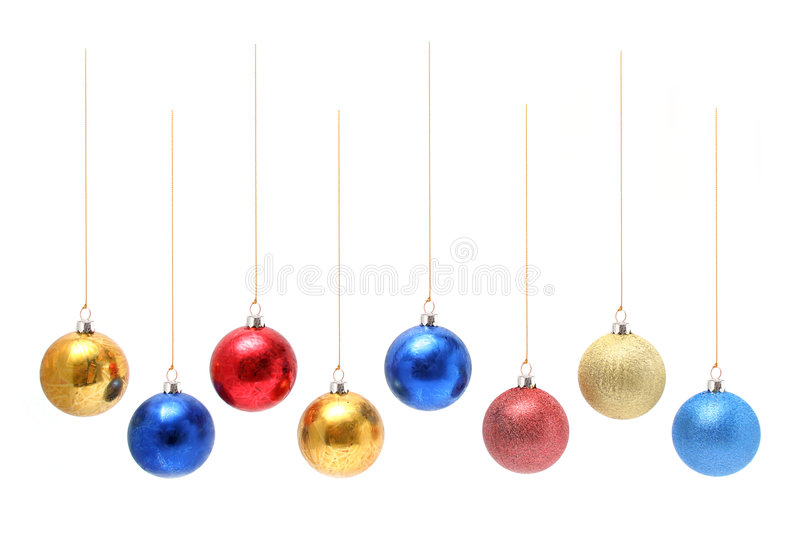 Christmas ornaments in the form of glass spheres royalty free stock image