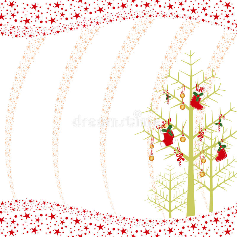 Download Christmas Ornaments Greeting Card Stock Vector - Image: 16801919