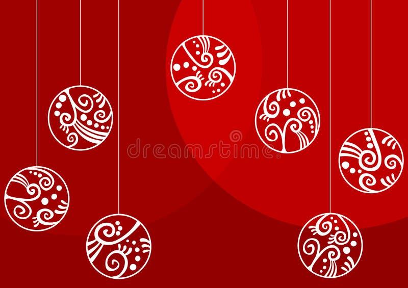 Christmas Ornaments Greeting Card royalty free stock photo