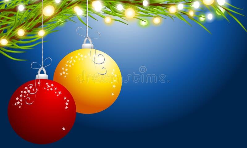 Christmas Ornaments Hanging royalty free illustration