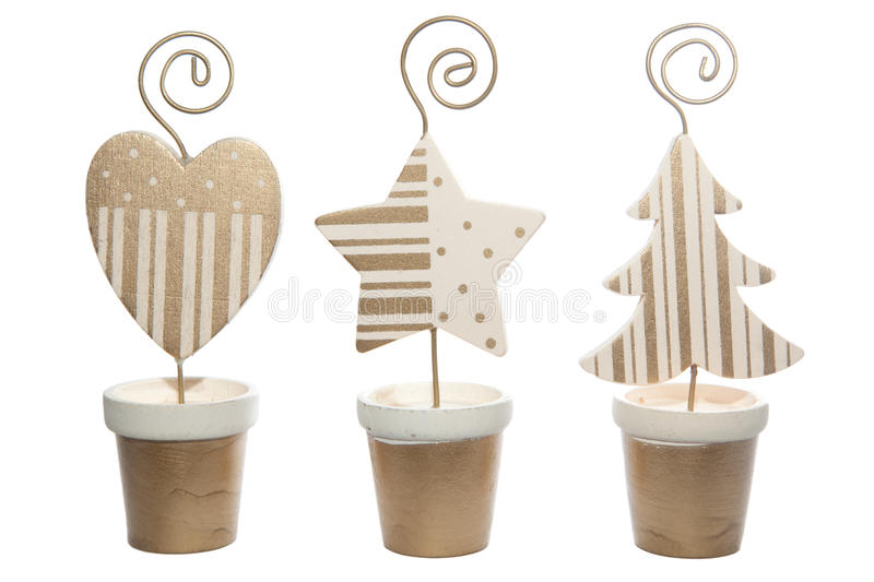 Download Christmas Ornaments On Isolated White Stock Image - Image: 11753475