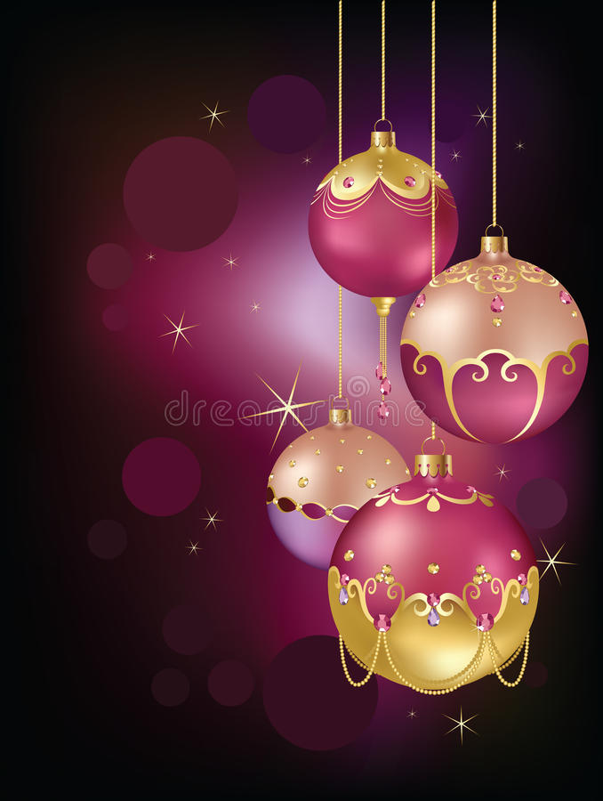 Christmas Ornaments Majestic Royalty Free Stock Image