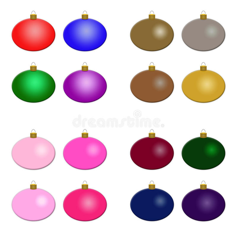 Christmas Ornaments - Multiple Sets royalty free stock photo