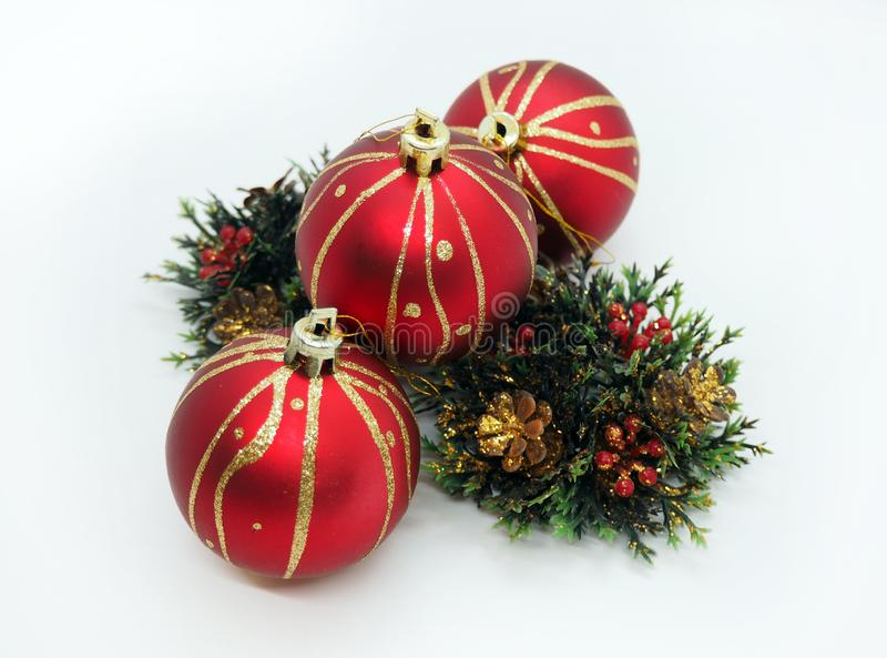 Christmas ornaments ready to decorate a house stock image