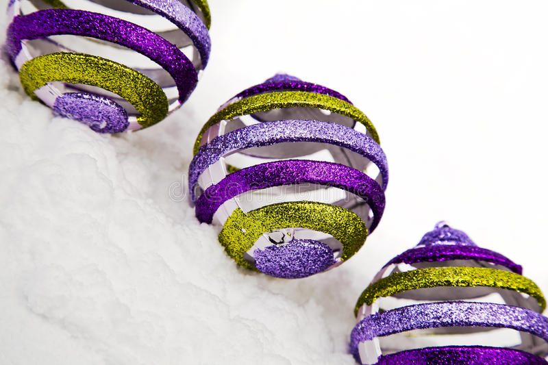 Download Christmas Ornaments In Snow Stock Image - Image: 22339863