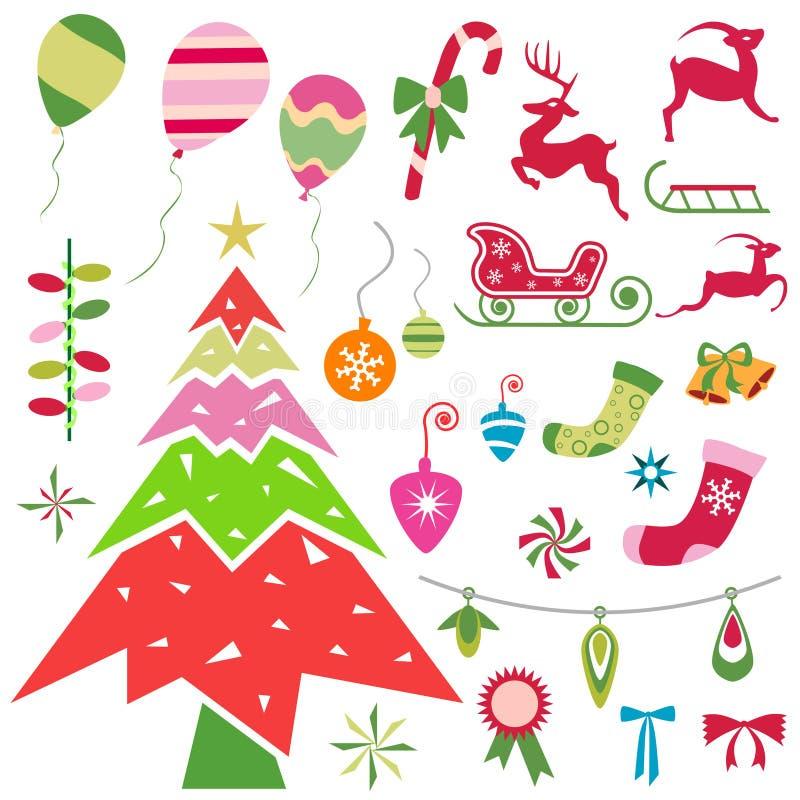 Christmas ornaments vector royalty free illustration