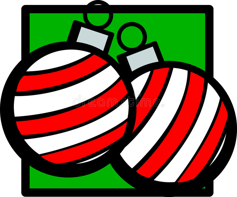 Christmas ornaments vector illustration stock images