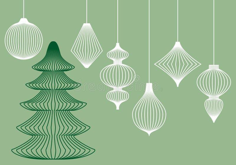 Christmas ornaments, vector set royalty free illustration