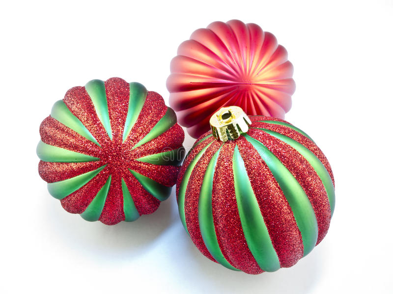 Download Christmas Ornaments On White Stock Photo - Image: 21957344