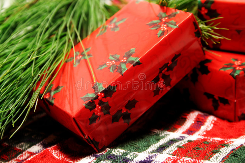 Christmas Package stock photos