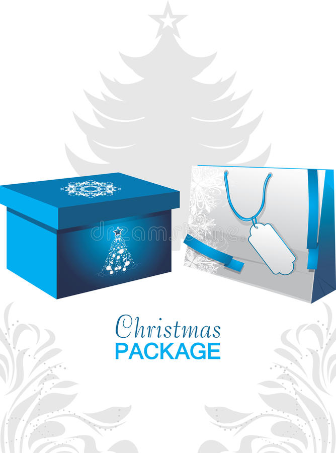 Christmas package stock images