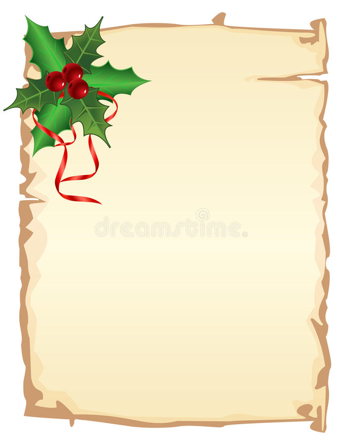 Christmas page royalty free illustration