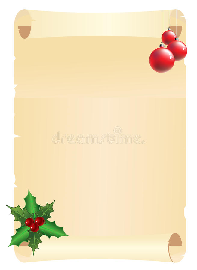 Christmas page stock illustration