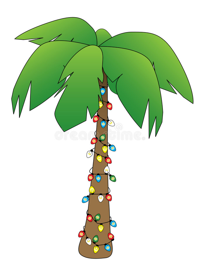 Christmas Palm vector illustration