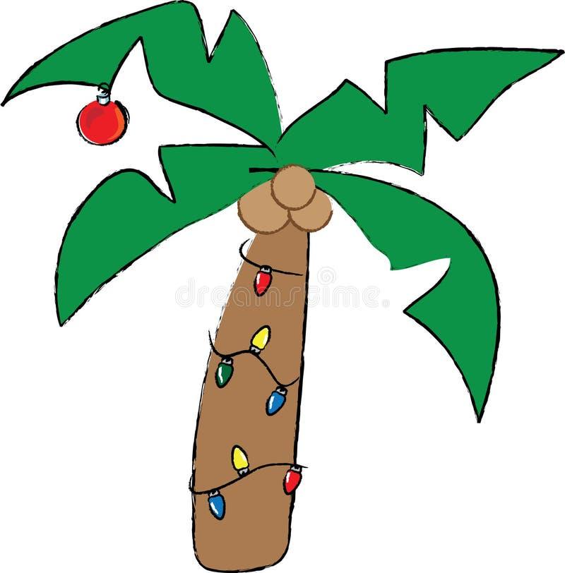 christmas palm tree stock vector illustration of drawing 11649946 rh dreamstime com christmas palm tree clip art free Palm Tree Outdoor Christmas Lights