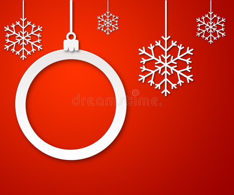Download Christmas Paper Ball On Red Background 3 Stock Photo - Image: 35005252
