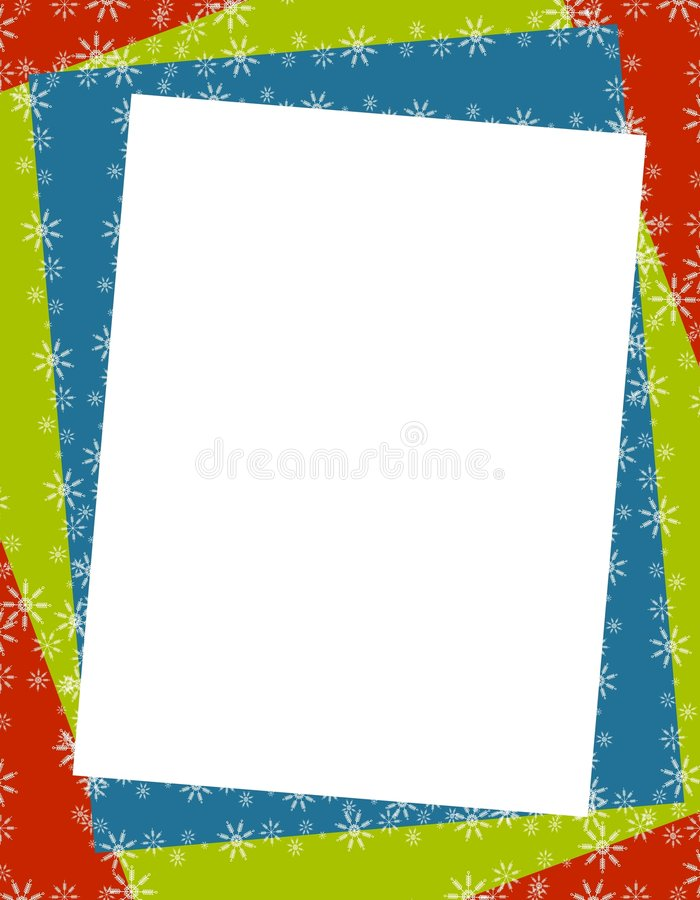 Christmas Paper Frame Border Stock Illustration - Illustration of ...