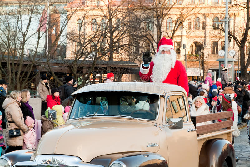 Download Christmas parade editorial stock image. Image of waving - 22099609